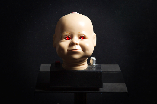 Baby Head Theremin -- This light controller theremin was given to me by Mark Mothersbaugh.  It is meant to be plugged into an amp and the tone can be aggressively piercing...much like a real baby.