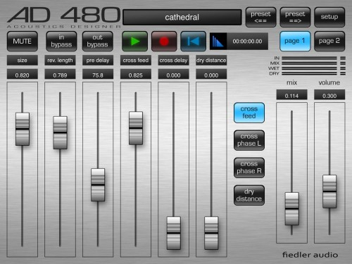AD 480 minimizes clunky-ness on iPad with spaced out faders and large buttons.
