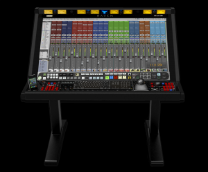 The Slate Raven MTX multi-touch audio production system.