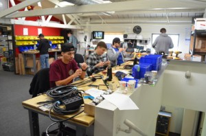 Some of the PALA team at work in the workshop.