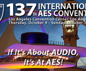 "137th AES Approaches: Neil Portnow of Recording Academy Giving Opening Keynote; Inaugural ""Raw Tracks"" Series"