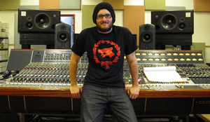 Matt Shane at the Neve 8048 in Williamsburg's Fluxivity Recording.